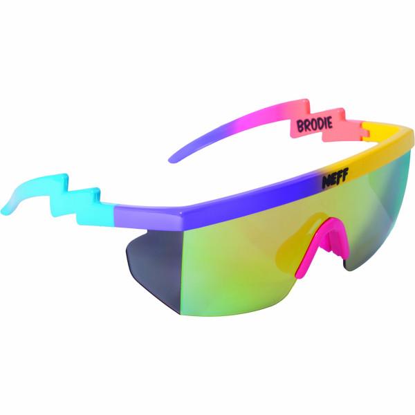 Neff Brodie Sunglasses, Purple/Yellow/Blue