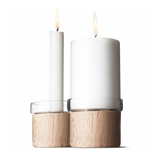 Menu Limited Edition 2-Pack Chunk Oak Candle Holder