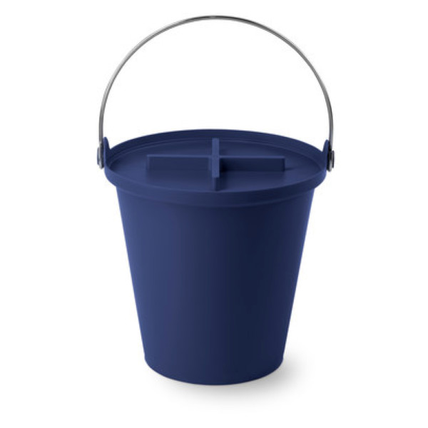 Authentics H2O 13L All Purpose Waste Bucket with Lid, Cobalt Blue
