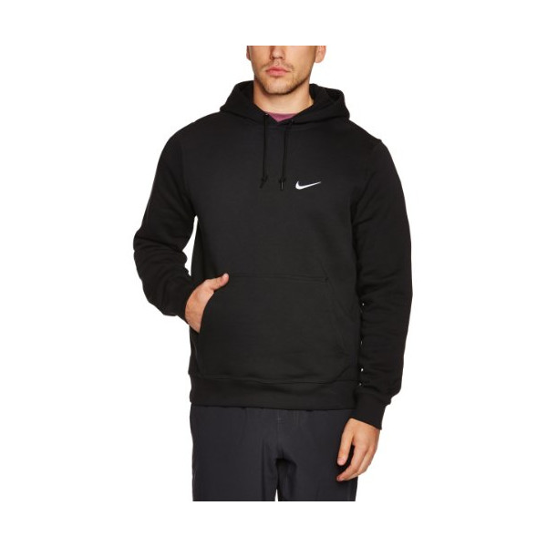 Nike Mens Club Pull Over Hoodie Black/White 611457-010 Size Large