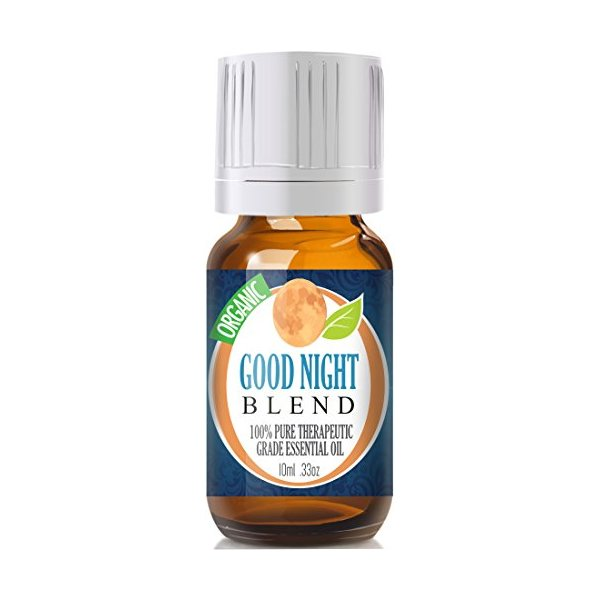 Good Night Blend (Organic) 100% Pure, Best Therapeutic Grade Essential Oil - 10ml (Comparable to DoTerra's Serenity & Young Living's Peace & Calming Blend)