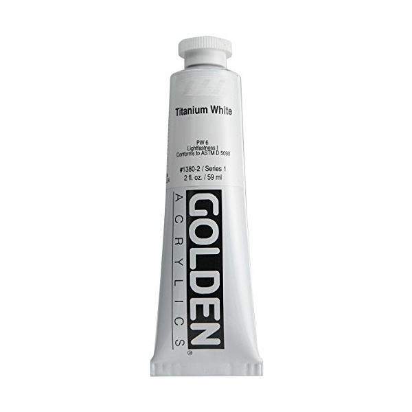 Golden Heavy Body Acrylic Paint, 2-Ounce, Titanium White