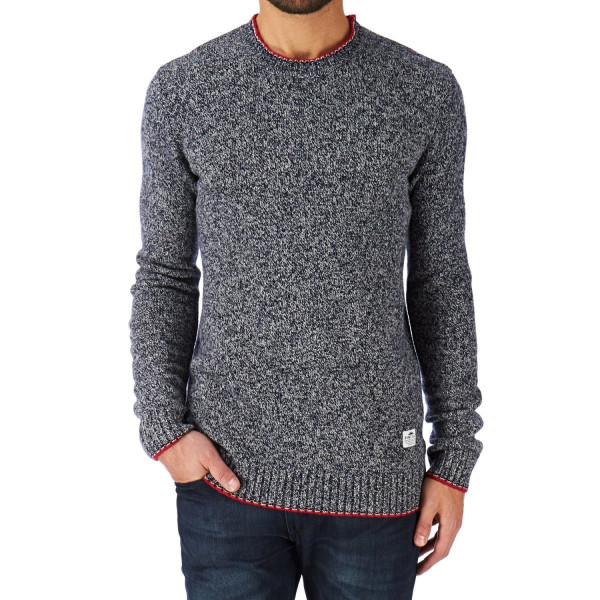 Penfield Gering Melange Crew Neck Sweater, Navy