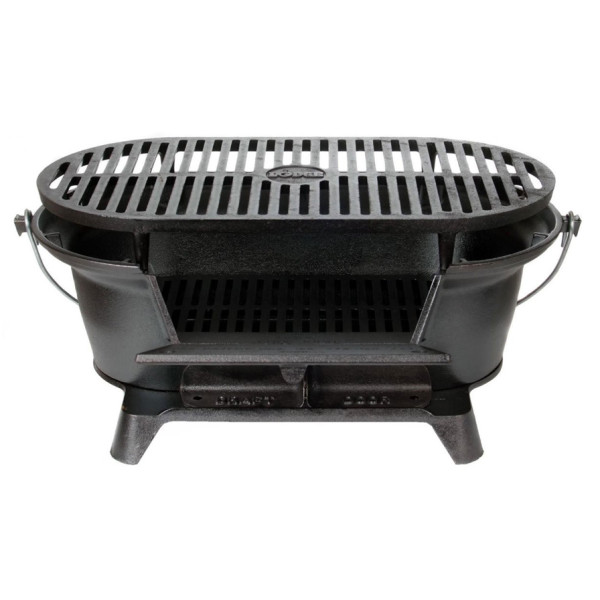 Lodge Pre-Seasoned Sportsman's Charcoal Grill