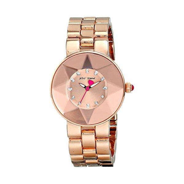 Betsey Johnson Women's BJ00402-04 Analog Display Quartz Rose Gold Watch