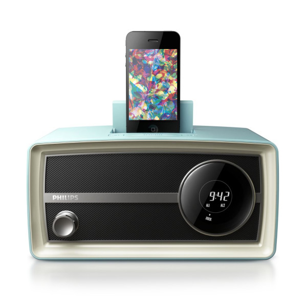 Philips Original Radio Mini for 30 pin iPod and iPhone, Blue