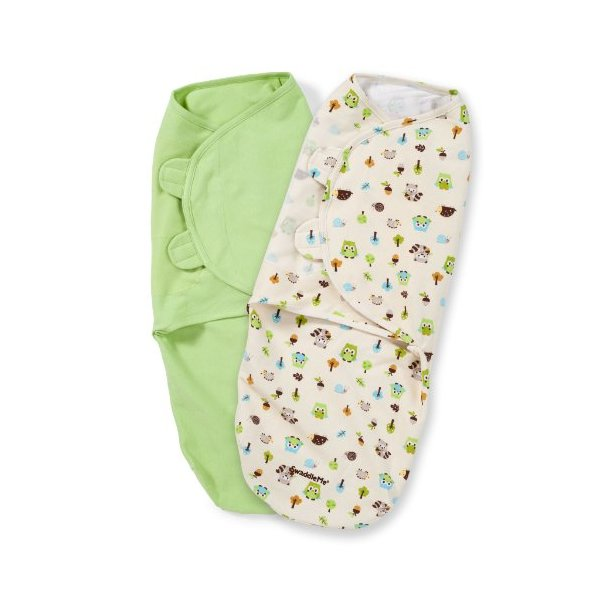 Summer Infant SwaddleMe Adjustable Infant Wrap, Woodland Friends, 2 Count, Large