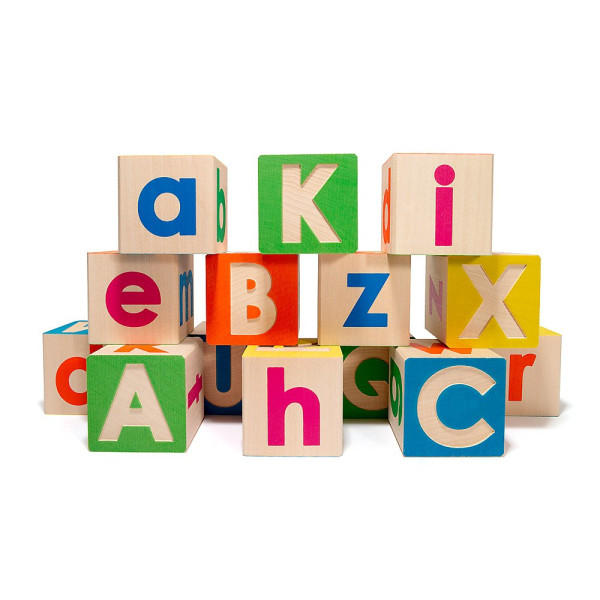Uncle Goose Uppercase and Lowercase Alphabet Blocks