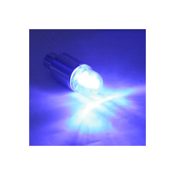 HDE® Neon Blue Strobe LED Light Tire Valve Caps