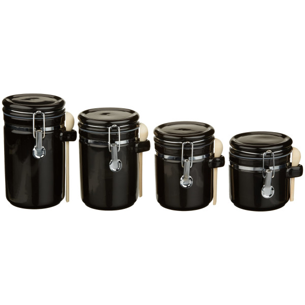 Anchor Home Collection 4-Piece Ceramic Canister Set