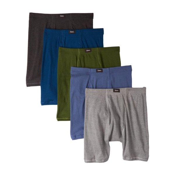 Hanes Men's Classics 5 Pack Comfort Soft Waistband Boxer Brief Assorted Colors