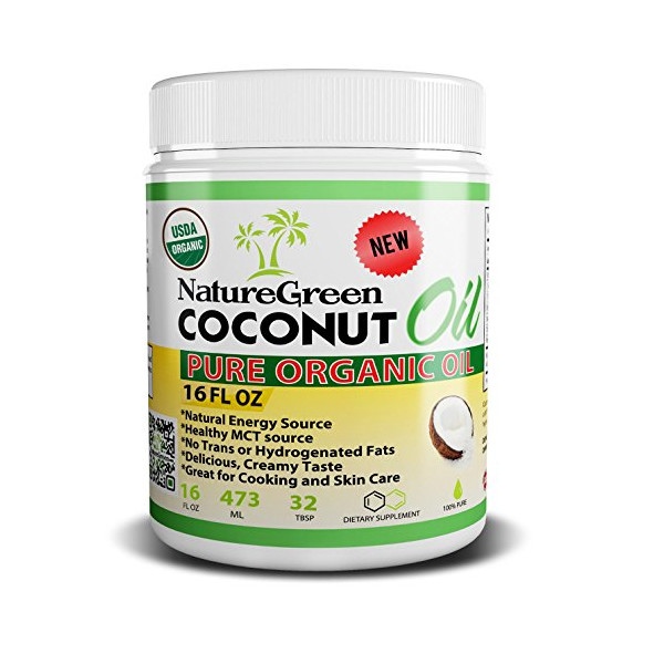 Coconut Oil-PURE ORGANIC COCONUT OIL -Weight Loss Benefits-Best for Cooking Tasty weight Loss Diet Recipes-Perfectly Natural Uses For Dry Skin Care-Good for Hair Care Beauty-Cook Healthy Recipes-100%Money Back GUARANTEED!Made in USA (16 OZ)