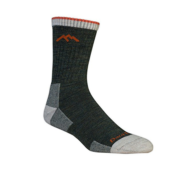 Darn Tough Merino Wool Micro Crew Sock Cushion,Olive,Large