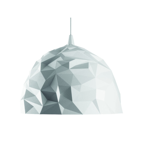 Rock Pendant Lamp, White