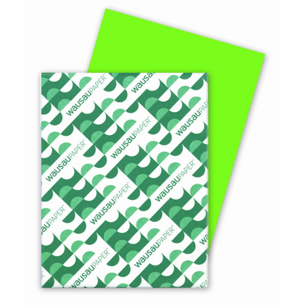 "Wausau Astrobrights #22781 Terra Green 65 lb. Cardstock, 8.5"" X 11"", 250 Sheets"