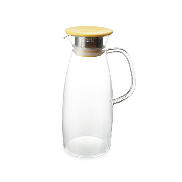 FORLIFE Mist Glass Ice Tea Jug , 50-Ounce, Mandarin