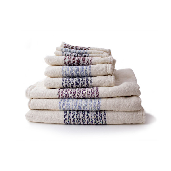Kontex Organic Cotton Towels Blue, Set of 3
