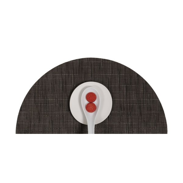 Chilewich Bamboo Round Tablemat Chocolate