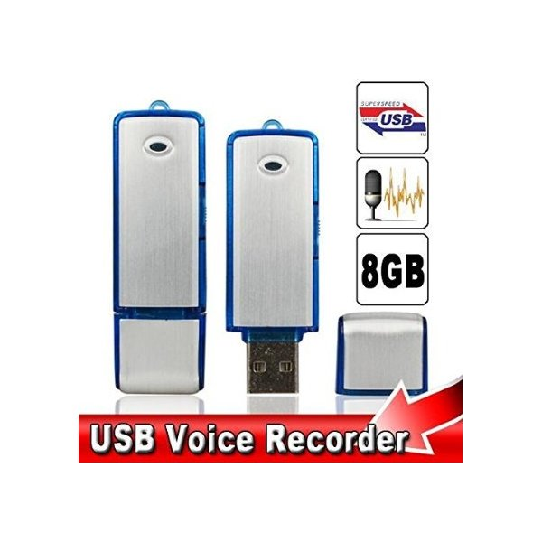 USB Flash Drive Digital Voice Recorder, 8 GB