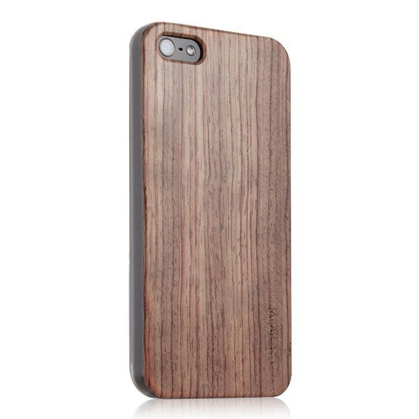 GGMM Timberland, Quality Real Wood and PC Case Cover for iPhone 5, Rosewood