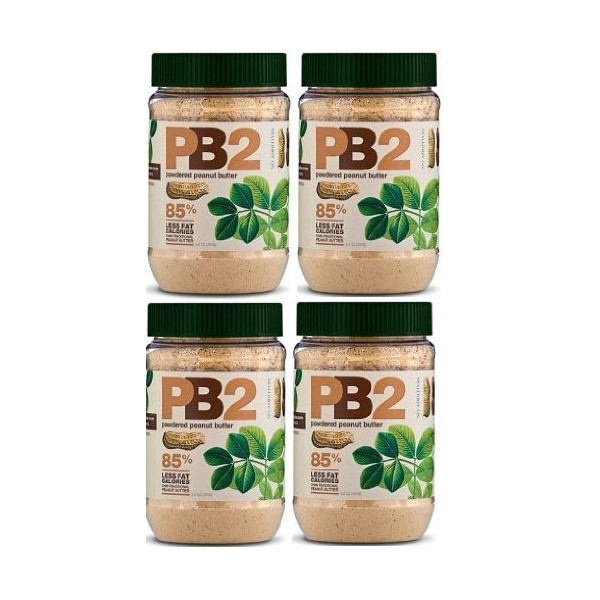 Powdered Peanut Butter - PB2 - 85% Less Fat and Calories (Pack of 4)