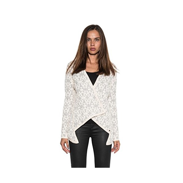 Summit Wool Stretch Jacquard Ivory Women's Blazer Cardigan by One Grey Day-M