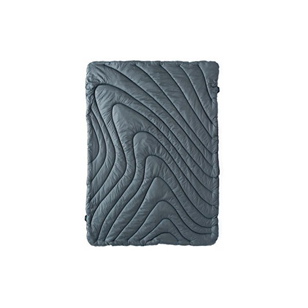 Rumpl High Performance Indoor/Outdoor Blanket, Throw, Charcoal/Cyan