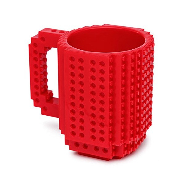 1 X Build-On Brick Mug Red 12 Oz Coffee Mug