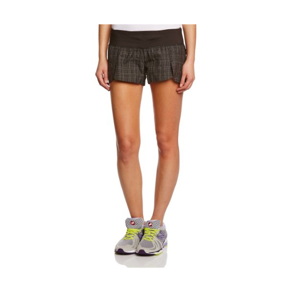 "Brooks Women's PureProject 3.5"" Reflective S, Color: Black Plaid/Black, Size: L"