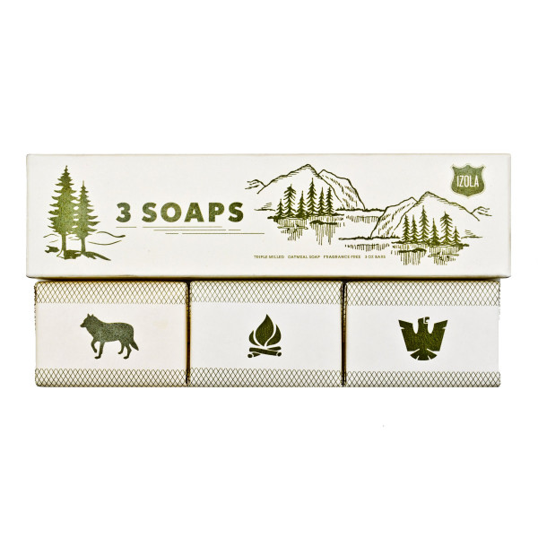 Izola Scout Soaps, Set of 3