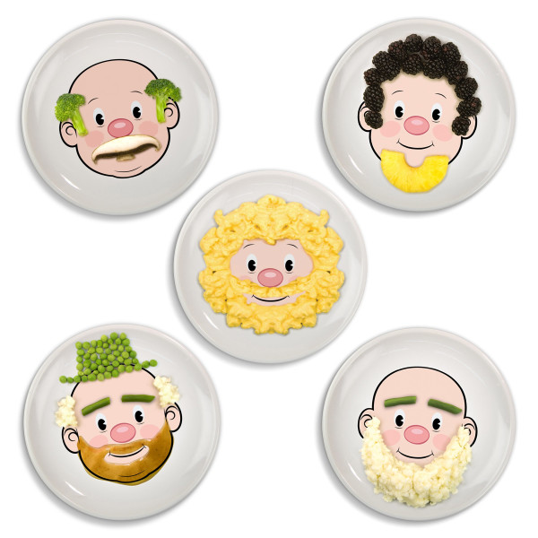 Fred Mr Food Face Dinner Plate, Multi-colour