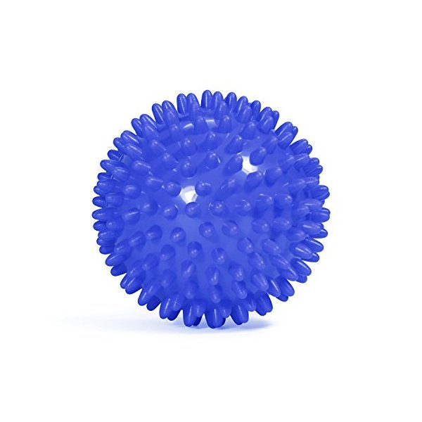Yes4All Spiky Exercise Balls/Spiky Massage Balls, Blue, 7.5cm