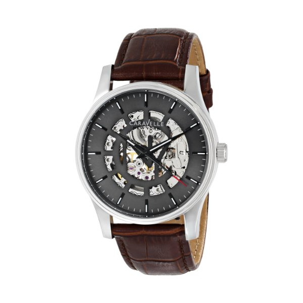 Caravelle New York by Bulova Men's 43A123 Analog Display Japanese Automatic Brown Watch