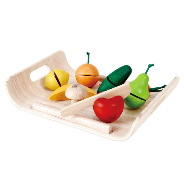 Plan Toys Assorted Fruits and Vegetables (Solid Wood Version)