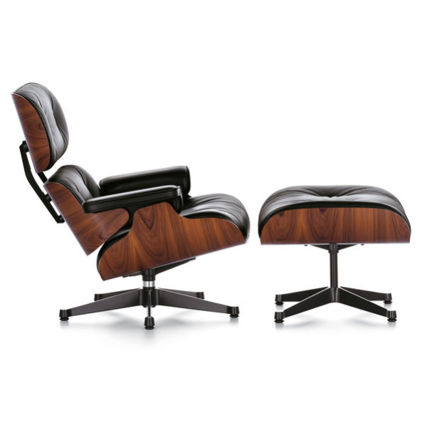 Urban Furnishing Mid Century Lounge Chair & Ottoman