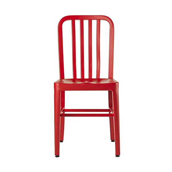 Sandra Side Chair, METAL SEAT, RED