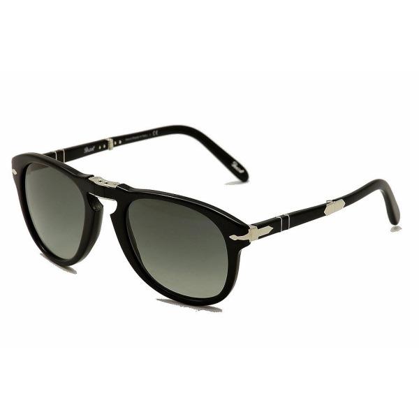 Persol 0714SM 95/71 Steve McQueen - Gloss Black 0714SM Wayfarer Sunglasses Lens