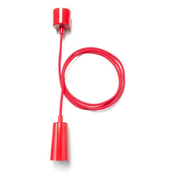 Pendant Light, Red Ceiling Drop Cap Light Fixture