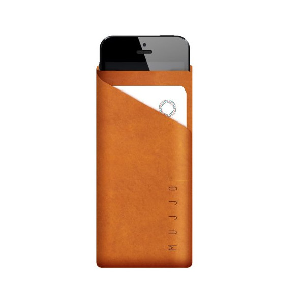 Mujjo Slim Fit iPhone 5 Wallet, Tan