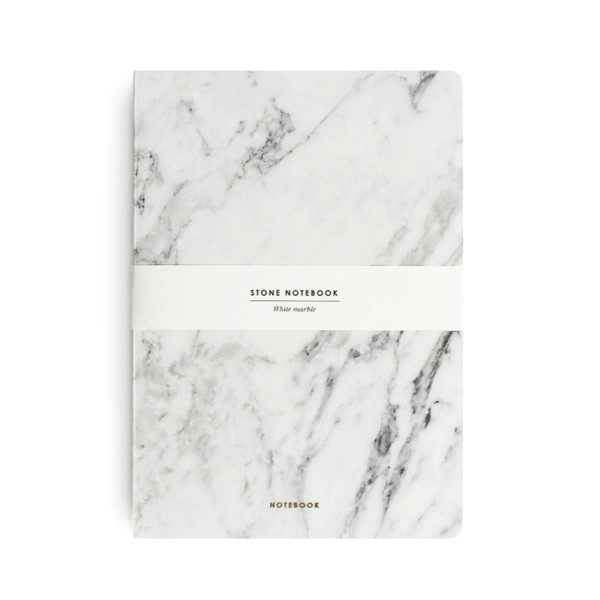 Dearmaison Hardcover Notebook, White Marble