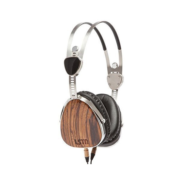 LSTN Troubadours Zebra Wood On-Ear Headphones with In-line Microphone