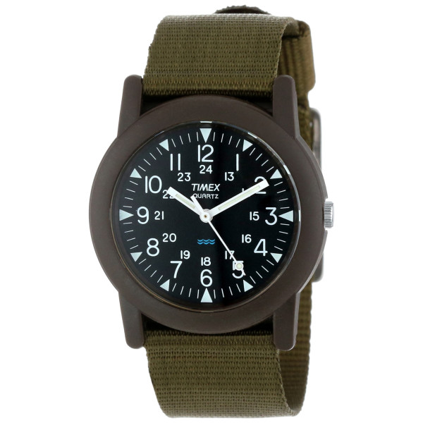 Timex Men's Camper Green Fabric Strap Watch