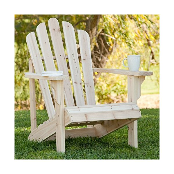 Shine Company Westport Adirondack Chair, Natural