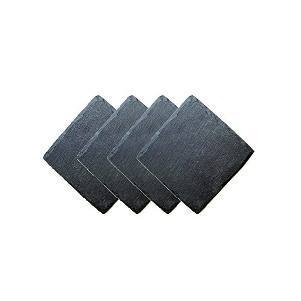 Slate Wine Glass Coasters - Set of 4