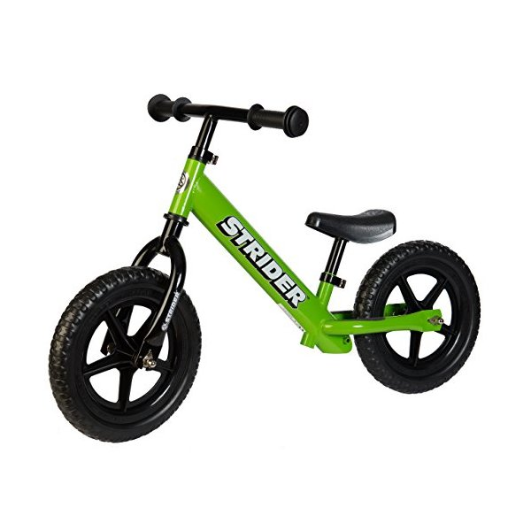 Strider Classic No-Pedal Balance Bike, Green