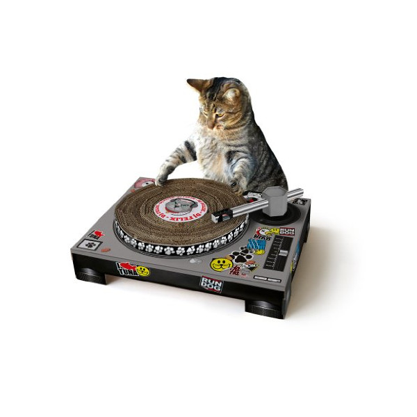 Suck UK Cat Stratching DJ Deck