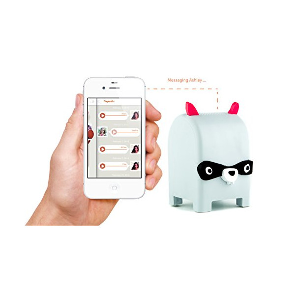 Toymail WIFI Walkie-Talkie - Rochester the Raccoon Mailman - iPhone & Android Messaging Animal Toy