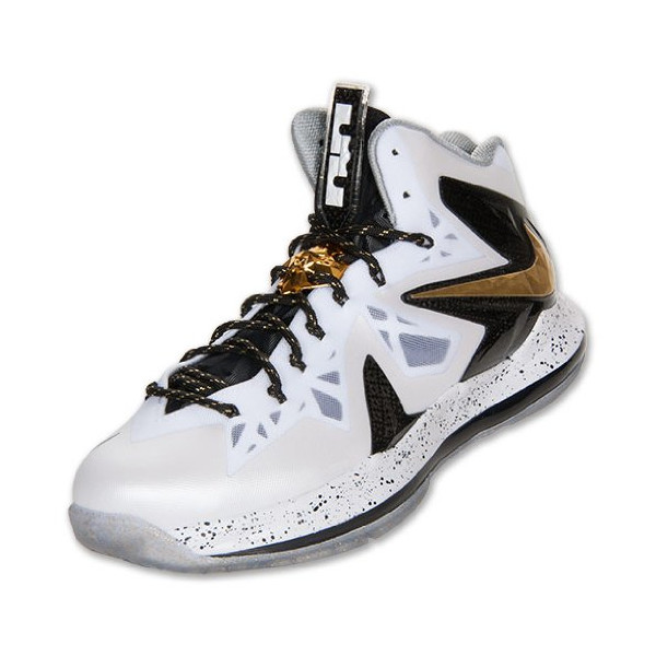 Men's Nike Lebron X P.S. Elite 579834 100 White Gold size 15