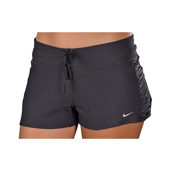 Nike Women's Dri-Fit Running Shorts With Built -in-Briefs-Gray-Large