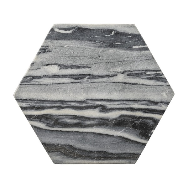 Bloomingville Marble Hexagon Cutting Board, Gray